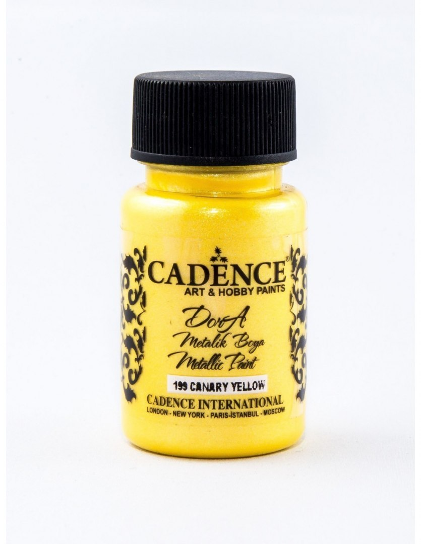 Dora Metalic Paint, Canary Yellow, 50ml