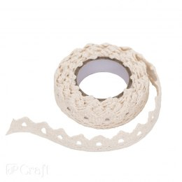 ADHESIVE COTTON LACE 1,8 M - ECRU