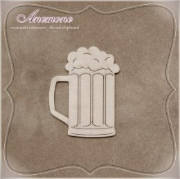 Beer mug with foam