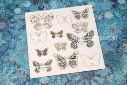Openwork mix butterflies 3 sizes