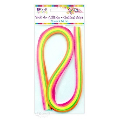 QUILLING STRIPS 6 MM - NEON, 100 PCS