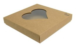Box eco-heart kraft 16x16x2,5cm GoatBox