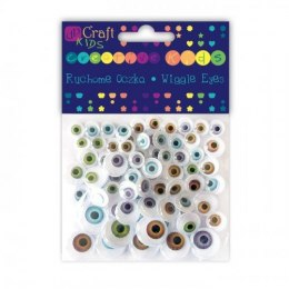 ASSORTED NATURAL WIGGLE EYES, 72 PCS
