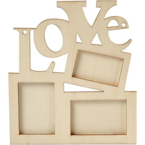 "Frame ""Love"" from plywood"