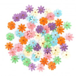 ASSORTED PAPER DAISIES, 60 PCS