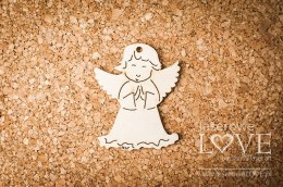 Plywood - Angel with folded hands - pendant 4 items