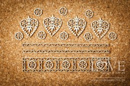 Chipboard - Highland decorations and hearts - Tatra life