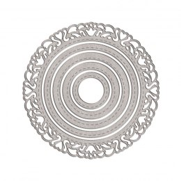 CUTTING DIES - CIRCLES WITH ORNAMENT, 5 PCS