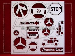 Set of retro car elements