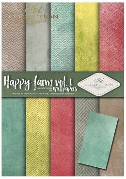 ''Happy farm vol. 1''- set of scrapbooking paper
