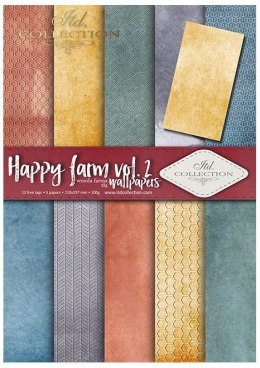 ''Happy farm vol. 2''- set of scrapbooking paper
