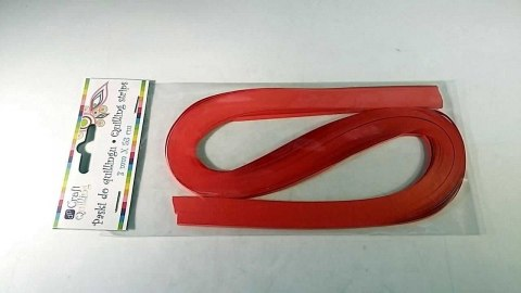 Red quilling strips, 3 mm