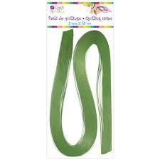 QUILLING STRIPS 6 MM - GREEN, 100 PCS