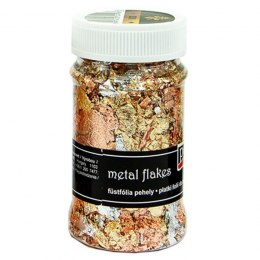 PENTART-Metal flakes 100ml gold/silver/copper
