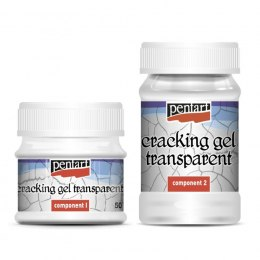 Pentart - cracking gel transparent 100+50ml