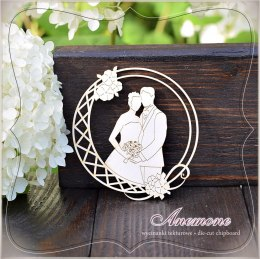 Laser cut - Wedding couple in the frame - Anemone