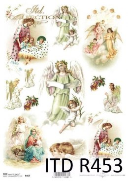 Rice paper - Christmas motifs, decorations, angels