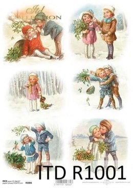 Rice paper - Christmas, children, winter pictures