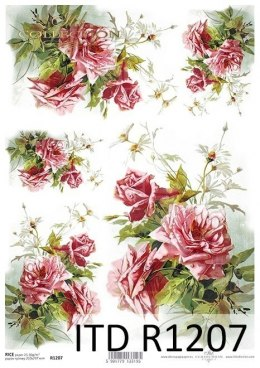 Rice paper Vintage, roses