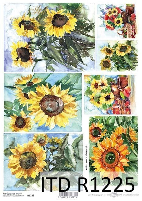 Rice paper sunflowers, flowers