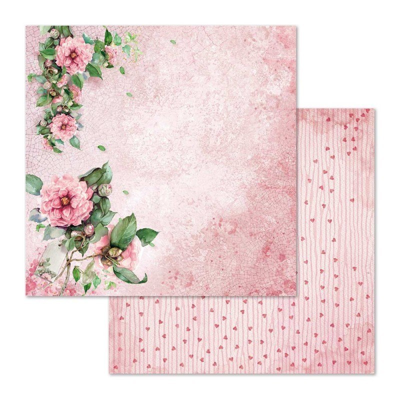 STAMPERIA- 20,3x20,3cm FLOWER FOR YOU,10 pcs, SET OF PAPERS
