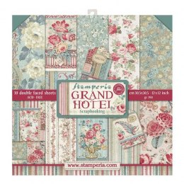 STAMPERIA- 30x30cm GRAND HOTEL 10szt, SET OF PAPERS