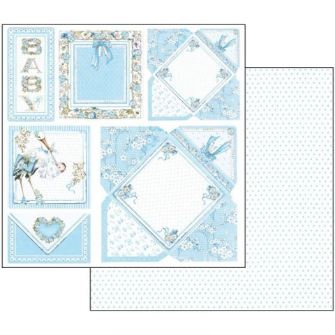 STAMPERIA-30x30cm 10pcs BABY BOY, SET OF PAPERS