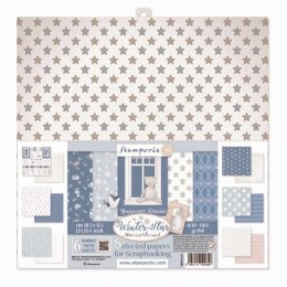 STAMPERIA-30x30cm 6pcs WINTER STAR, SET OF PAPERS