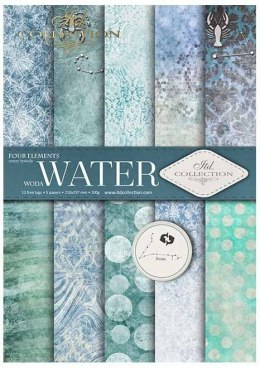 ''Water''- set of scrapbooking paper