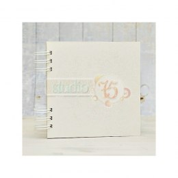 Chipboard album - Studio75 - 20x20cm -10 cards, silver spiral