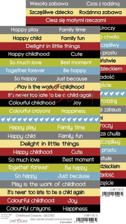 CHILDHOOD CRAYONS - QUOTES - V