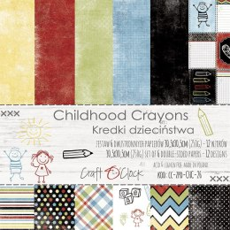 CHILDHOOD CRAYONS - a set of papers 30,5x30,5cm
