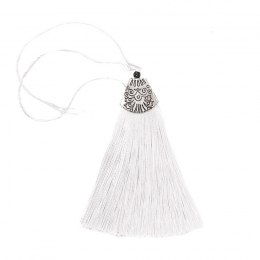 DECORATIVE TASSEL 8 CM - WHITE
