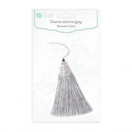 DECORATIVE TASSEL 8 CM - SILVER