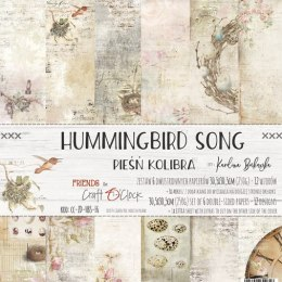 HUMMINGBIRD SONG - paper set 30,5x30,5cm