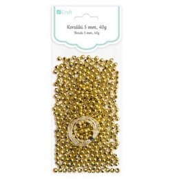 BEADS 5 MM, 40 G GOLD