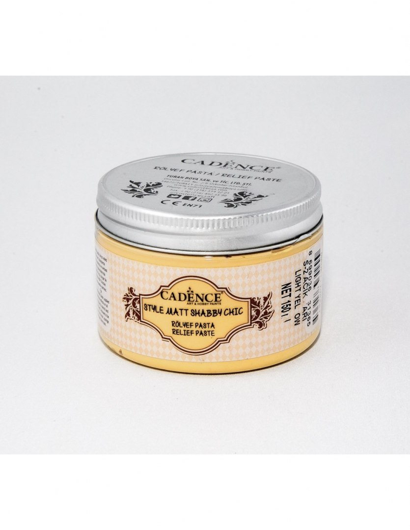 Light yellow Style Matt Shabby Chic Relief Paste 150ml