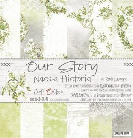 OUR STORY - a set of papers 30,5x30,5cm