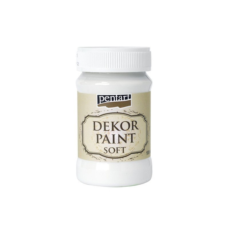 Pentart - dekor paint soft, white, 100 ml