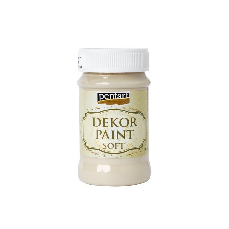 Pentart - dekor paint soft, cappuccino, 100 ml