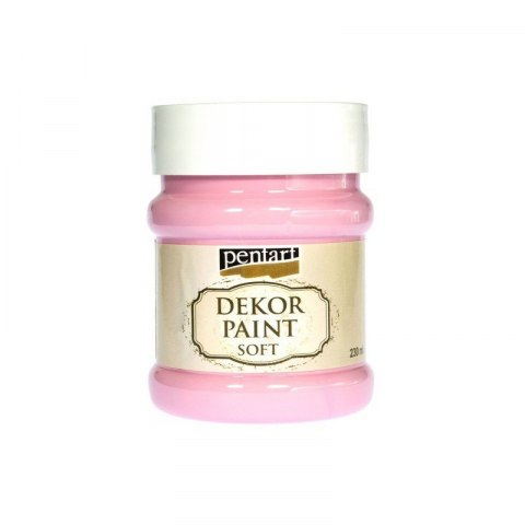 Pentart - dekor paint soft,baby pink, 230 ml