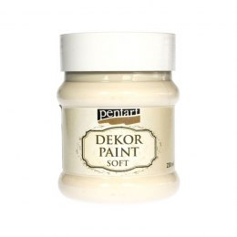 Pentart - dekor paint soft, ivory, 230 ml