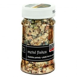 PENTART-Metal flakes 100ml copper/green