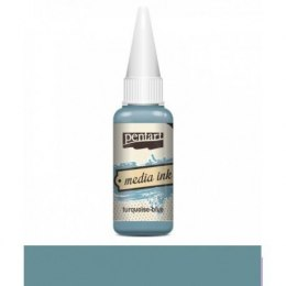 PENTART- MEDIA INK TURQUOISE- BLUE 20 ml