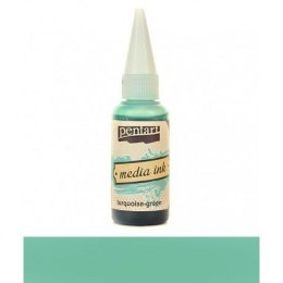 PENTART MEDIA INK 20 ml TURQUOISE-GREEN