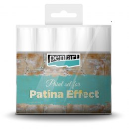 Pentart - paint set for patina effect - 5 pcs
