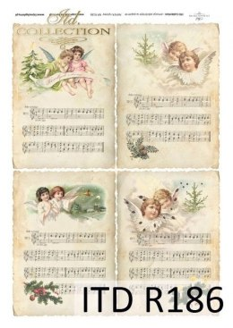 Rice paper - sheet music, angels
