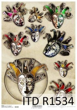 Rice paper - Venetian masks