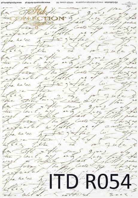 Rice paper - longhand, old letter