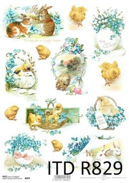 Rice paper flowers - vintage, Easter compositions